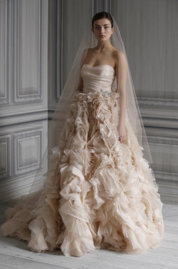 Monique Lhuillier Wedding Dresses: Pure Romance, Spring 2012 | OneWed