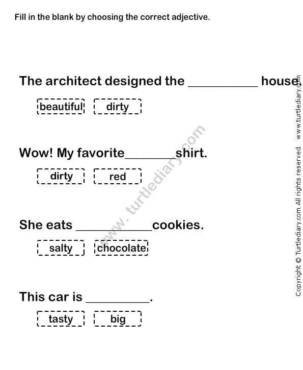 46 best Adjectives Worksheets images on Pinterest | Toddler ...
