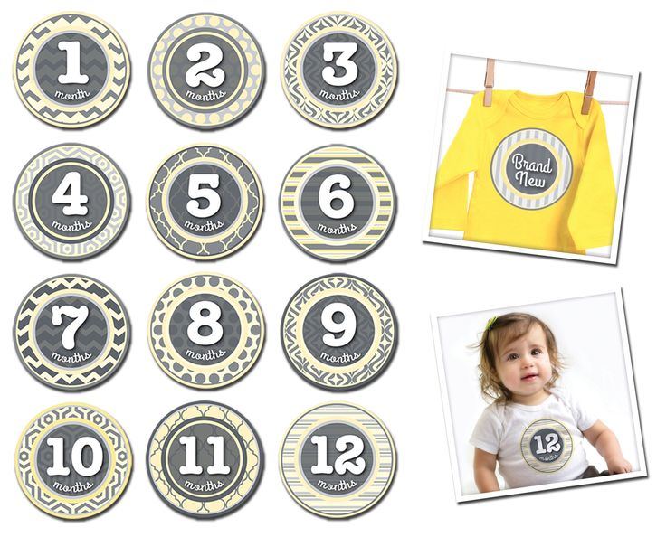 The PERFECT way to ensure that you never wonder when that pic was taken in years to come!  The supremely stylish yellow and grey patterned peanut is the perfect choice for fashion forward families and a great unisex design! Stick on any tee or onesie to brighten your little ones next photos!!    Little Boo-Teek - Sticky Bellies Patterned Peanut Online   Baby Gifts   Baby Store Online