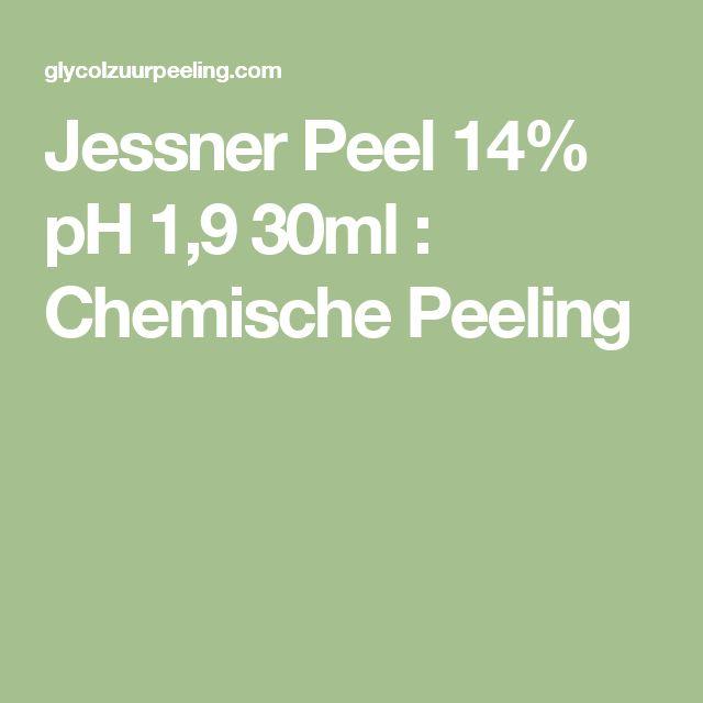 Jessner Peel 14% pH 1,9 30ml : Chemische Peeling