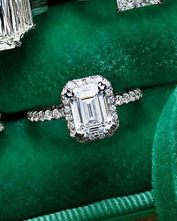 Emerald-Cut Diamond Engagement RingDiamond Engagement Rings, Diamonds Band, Emerald Cut Engagement, Diamonds Rings, Dreams Engagement Rings, Wedding Rings, Dreams Rings, Emeralds Cut Diamonds, Diamonds Engagement Rings