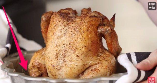 ψητό κοτόπουλο σε φόρμα του κέικ