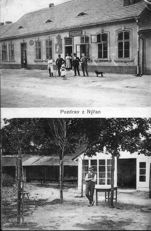 1903 Nýřany, U zeleného stromu. Zdroj: nyrany.cz.