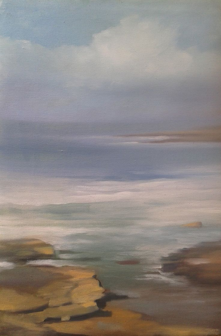'Creevy Shore' oil on canvas panel, 2016 Morgan Ferriter. #art #Painting #WildAtlanticWay  #Donegal #Ireland #follow