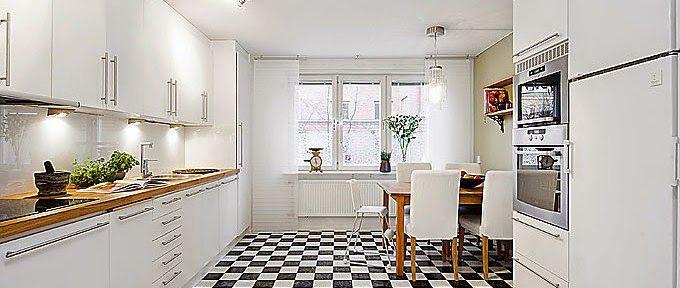 Blog de decoração Perfeita Ordem: Piso quadriculado na cozinha...Use sem medo!