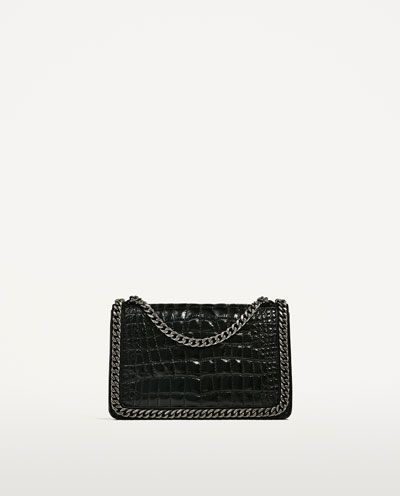 CROSSBODY BAG WITH EMBOSSED CHAIN