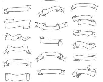 Set di caratteri ornati & turbinii pagina intera  disegnati a