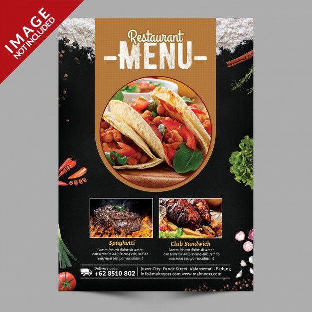 Food Menu Flyer | Poster makanan, Makanan, Desain brosur