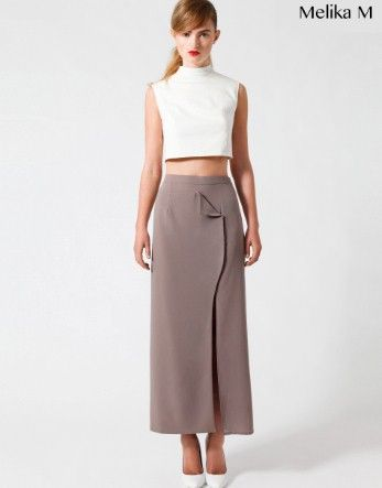 Wow great pattern for Brocade  Melika M Wrapped Maxi Skirt