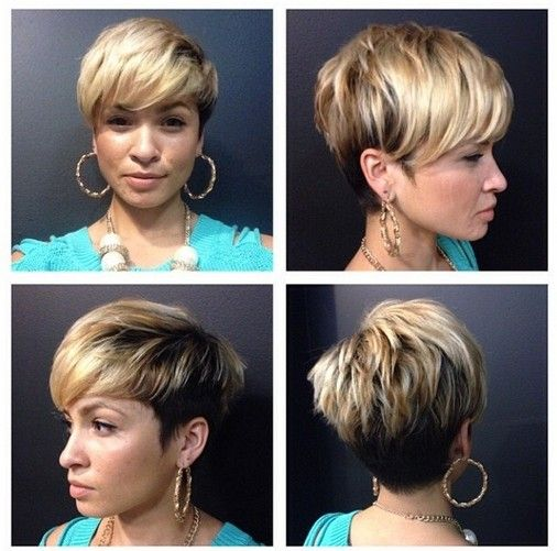 Messy, Layered Pixie Cut