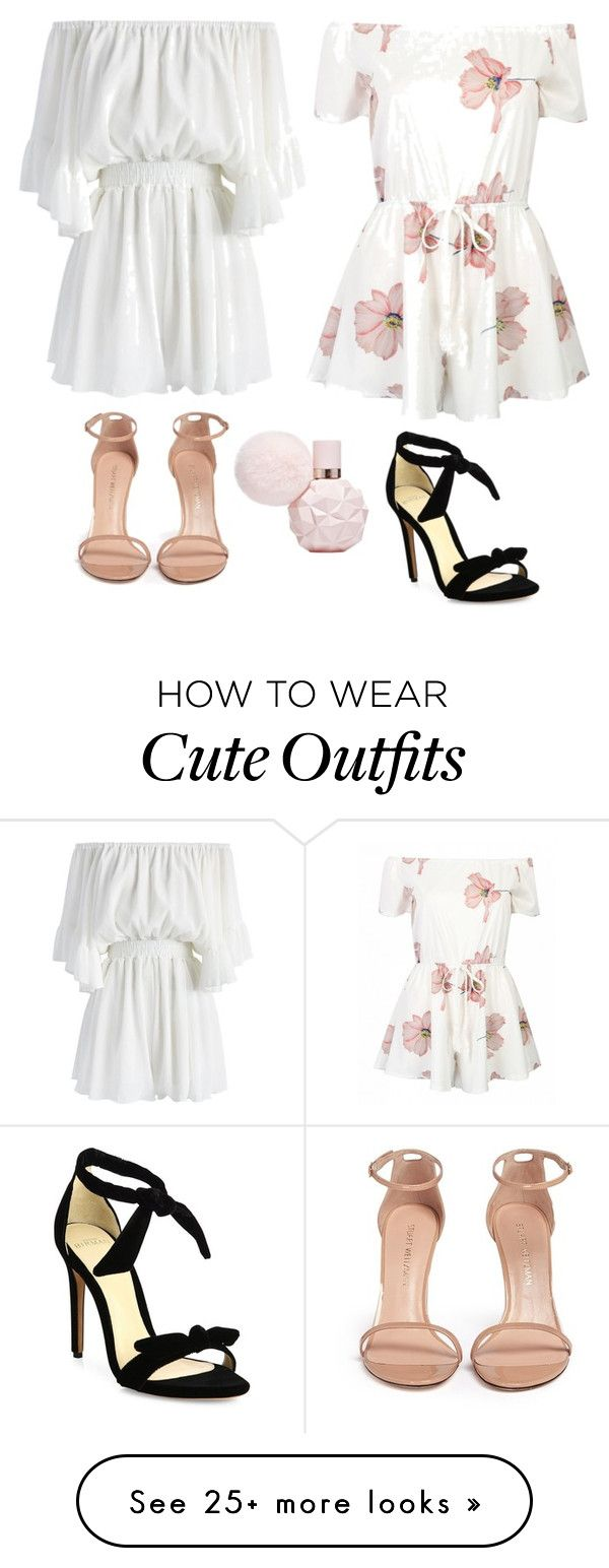 """""""Cute Romper Outfits """" by lsantana13 on Polyvore featuring Chicwish, Stuart Weitzman and Alexandre Birman"""