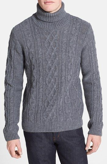 Topman Chunky Cable Knit Turtleneck Sweater   Nordstrom $84