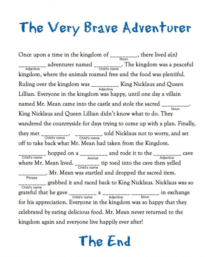 Unforgettable image for camping mad libs printable
