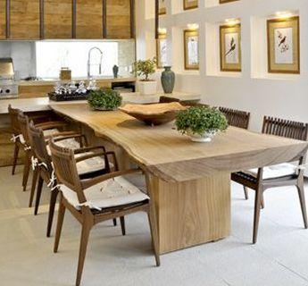 Mesa rustica cadeiras modernas ideias para a casa for Mesas de cocina de madera modernas