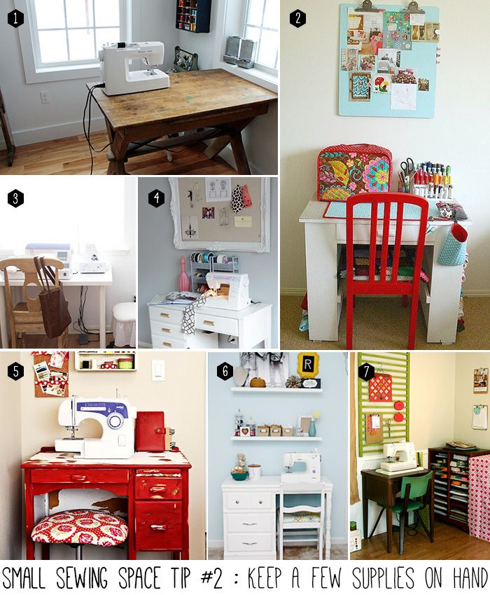 Small sewing space tip #2 of 5 : Keep a few supplies on hand. Store the rest!