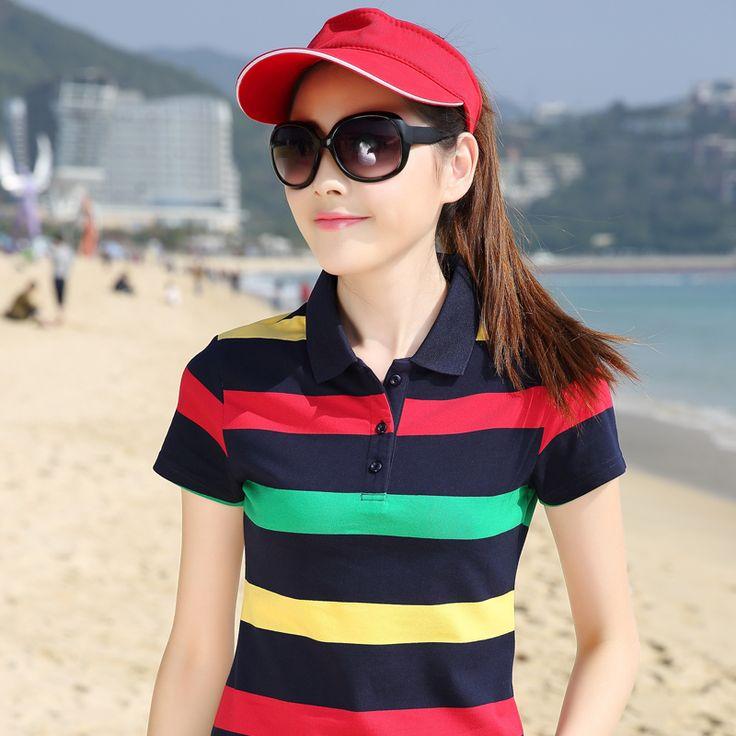 Women Lady Striped poloshirt raph dames poloshirts damen polo shirt camisa cotton striped polo femmes shirts Plus Size top