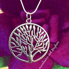 FAB NEW 'TREE OF LIFE' NECKLACE HIPPIE GYPSY BOHO SILVER PEACE PENDANT CHAIN