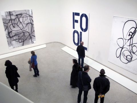 Christopher Wool at the Guggenheim.