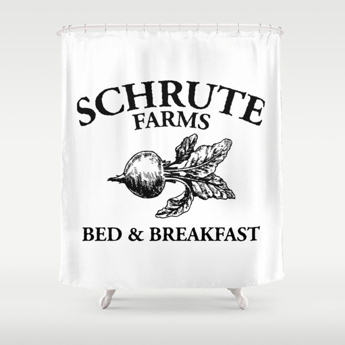 Buy Schrute Farms Shower Curtain By Robertoeastep Worldwide Shipping Available At Society6 Com Just One Of Mi In 2020 Schrute Farms Curtains Designer Shower Curtains