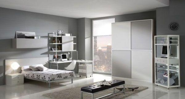 Lamp room young man teen design shelves window idea
