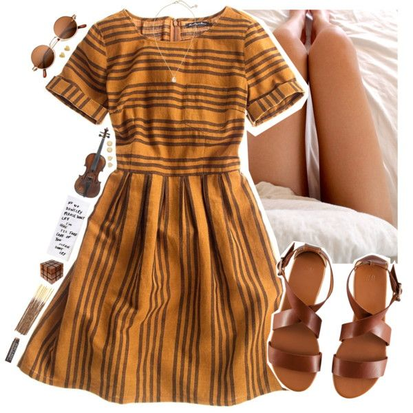 A fashion look from November 2015 featuring Madewell dresses, H&M sandals and Kendra Scott necklaces. Browse and shop related looks.