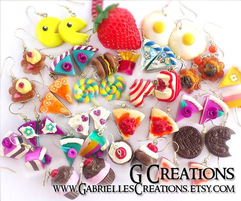 G Creations' kawaii jewelry MYSTERY GRAB BAG contains deliciously cute items that might be: Post, Dangle or Clip-on Earrings, Necklaces, Pendants, Bracelets, Hair Clips, Key Rings, Pins or other accessories. They are all in perfect condition, new, not worn and not damaged.  Your MYSTERY bag w...