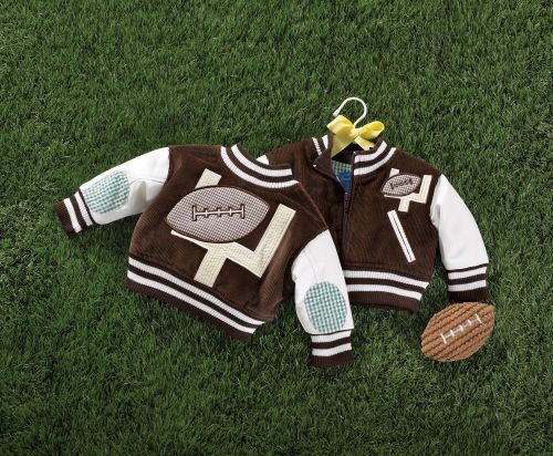 Mud Pie Football Jacket-mud pie, football, little boy, boy, infant, baby, toddler, sports, football jacket, lethermans jacket, trendy, baby boutique, gift