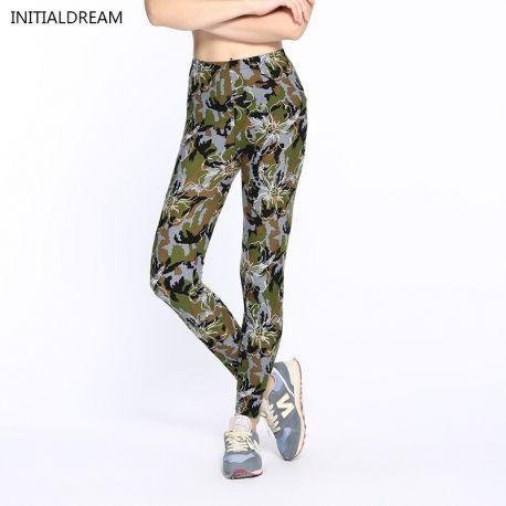 winter leggings fitness Camouflage women print leggings Trouser Army Pants