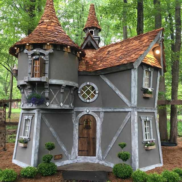 I Build One Playhouse For My Kids And The Next Thing I Know I Have Tlc Knocking On Our Door To Do A T V Show Play Houses Luxury Playhouses Build