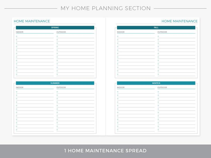 My Home Planning Section