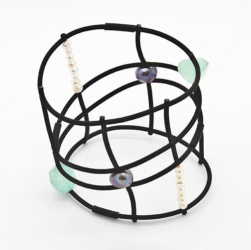 Contemporary stylish jewellery / Bracelet PRECIOUS GRID from Supermandolini