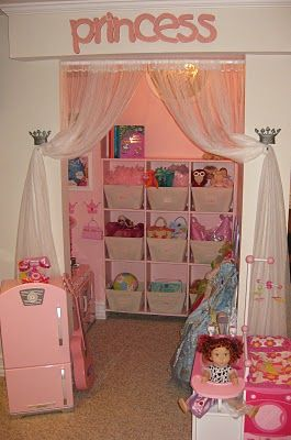 hamptontoes: A little playroom nook transformed into a little girl's playhouse