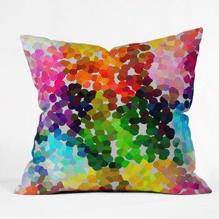 DENY Designs Three Of The Possessed Winter 1998 Multicolored Polyester Throw Pillow | Overstock.com Shopping - The Best Deals on Throw Pillows