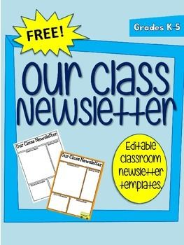 free editable newsletter templates - this download comes with my editable newsletter template
