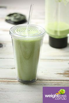 Pineapple & Spinach Smoothie. #HealthyRecipes #DietRecipes #WeightLossRecipes weightloss.com.au