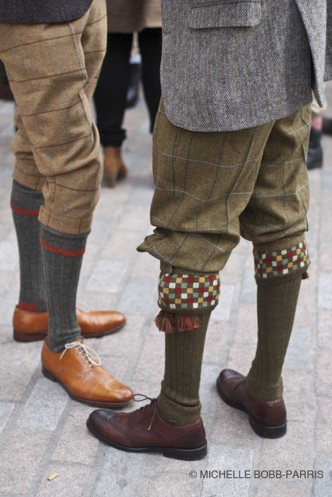 Plus fours and fancy socks