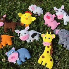 Lot de 10 animaux en feutrine fait main unique, lion,éléphant,girafe,hippopotame,mouton,vache,zèbre,cheval,cochon,poussin,jouet en feutrine,animaux de la ferme,animaux savane ,jouet enfant (scheduled via http://www.tailwindapp.com?utm_source=pinterest&utm_medium=twpin&utm_content=post81178749&utm_campaign=scheduler_attribution)