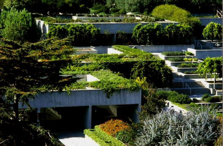 The terraced galleries of the Oakland Museum of Art by Kevin Roche
