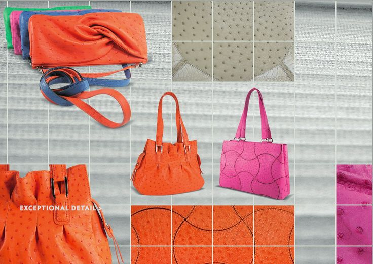 some of Via La Moda's limited edition bags. 2011 Ostrich creations