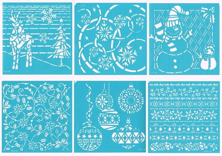 Darice Christmas Stencils Home FOR THE Holidays 6 6x6 Self Adhesive | eBay