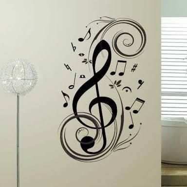 music note wall decal - Google Search
