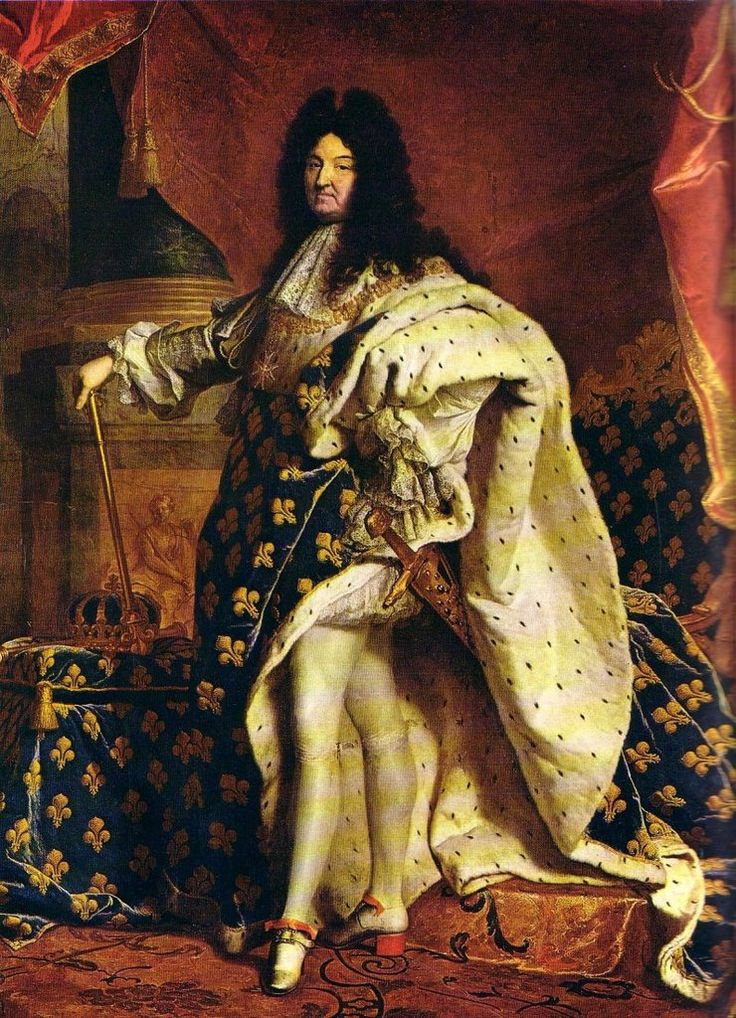 Greater Paris, Versailles Grand Parc, Louis XIV (1701) by Hyacinthe Rigaud