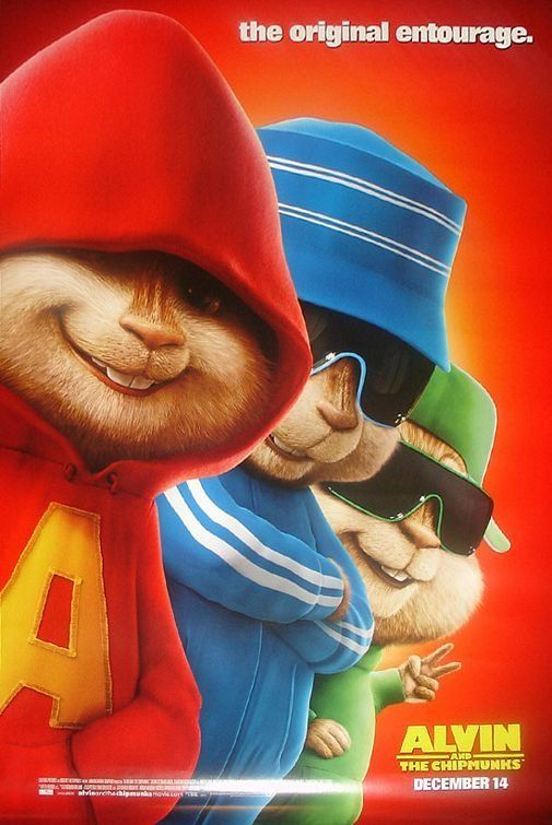 Alvin and the Chipmunks (2007)  A struggling songwriter named Dave Seville finds success when he comes across a trio of singing chipmunks: mischievous leader Alvin, brainy Simon, and chubby impressionable Theodore.  Jason Lee, David Cross
