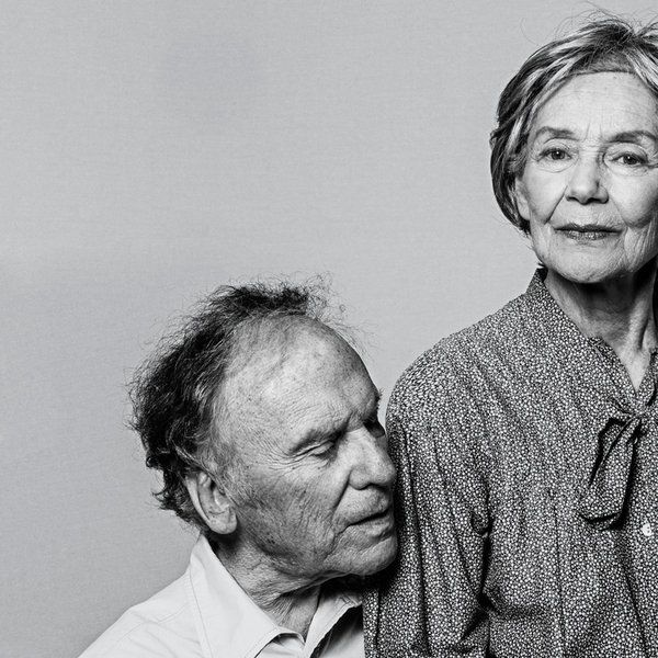 "Jean-Louis Trintignant and Emanuelle Riva in the Haneke's film ""Amour"" - photo by Philippe Quaisse -"