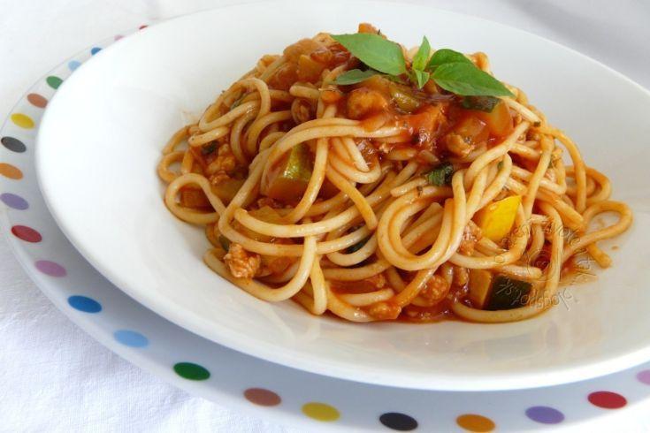 Fotorecept: Špagety s mäsovo-cuketovou omáčkou