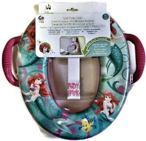 Little Mermaid Ariel Soft Potty Seat with Potty Hook -   - http://babyentry.com/baby/potty-training/seat-covers/little-mermaid-ariel-soft-potty-seat-with-potty-hook-com/