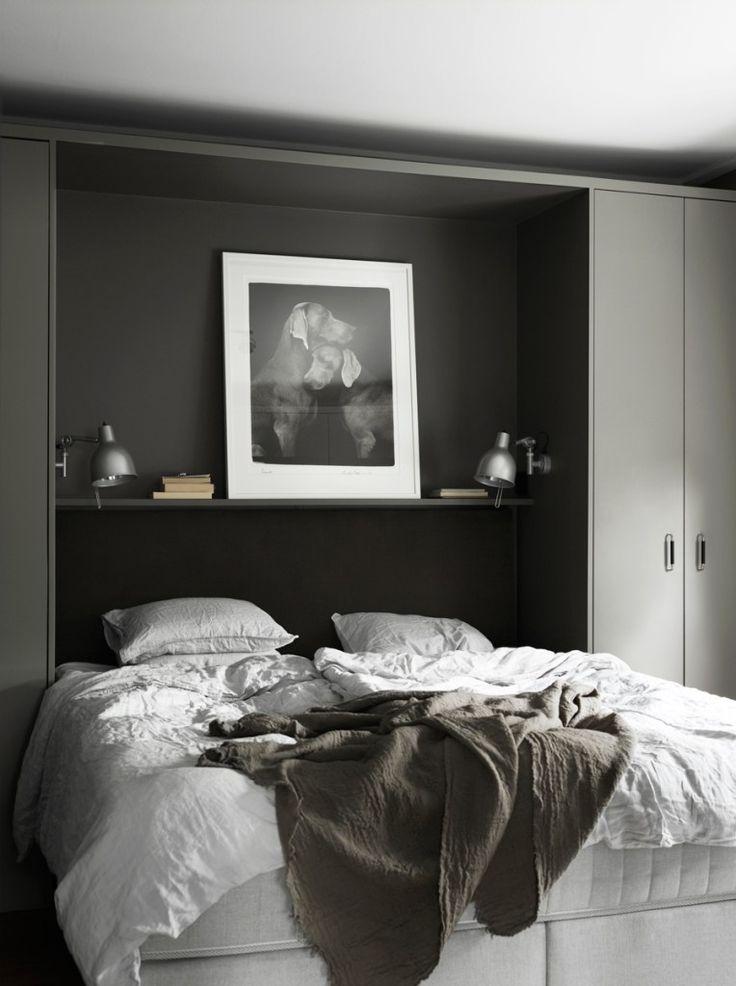 5 Smart bedroom storage examples - via Coco Lapine Design blog