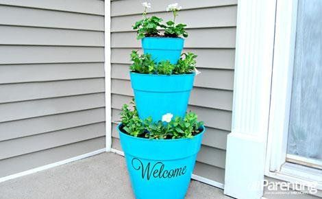 How to make a stacked pot planter