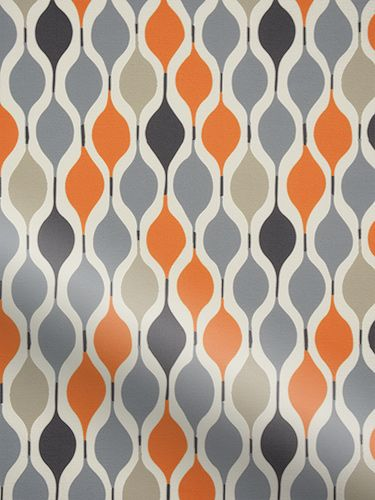 A funky, 70's geometric pattern, this Retro Shapes orange roller blind is incredibly en vogue. It has a lively blend of colours, with neutral grey tones permeating through bright, bold orange accen...