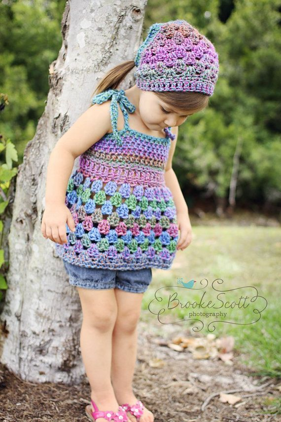 Childrens Clothing Crochet Tank Top / Swimsuit por SimplyMadeByErin,